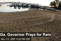 Ga. Governor Prays for Rain