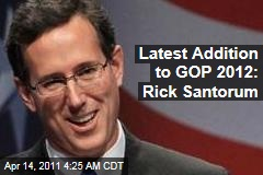 Rick Santorum Launches Prez Campaign Committee