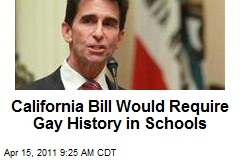 California Bill Would Require Gay History in Schools