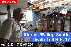 Storms Wallop South; Death Toll Hits 16