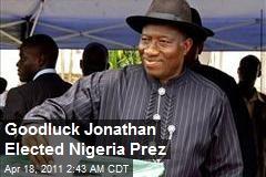 Goodluck Jonathan Elected Nigeria Prez