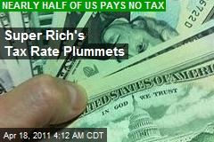 Super Rich Tax Rate Plummets
