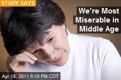 We're Most Miserable in Middle Age