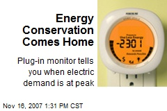 Energy Conservation Comes Home