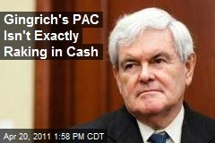 Gingrich's PAC Isn't Exactly Raking in Cash