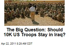 Iraq War: US, Baghdad Weigh Leaving 10K US Troops After Planned Withdrawal
