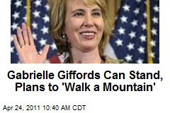 Gabrielle Giffords Can Stand, Plans to 'Walk a Mountain'