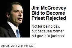 Jim McGreevey Bid to Become Priest Rejected