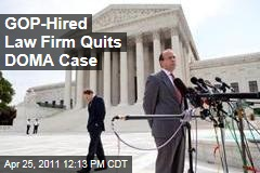 GOP-Hired Law Firm King and Spalding Quits Defense of Marriage Act Case; Paul Clement Resigns