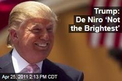 Donald Trump: Robert De Niro 'Not the Brightest'