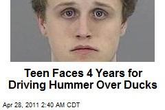 Hummer Teen Runs Down Ducklings