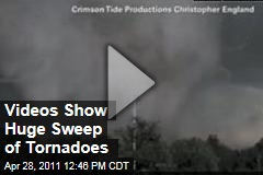 Videos Show Huge Tornadoes Pummeling the South