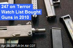 247 on Terror Watch List Bought Guns in 2010