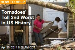 Tornadoes' Death Toll Keeps Rising in Alabama, Elsewhere