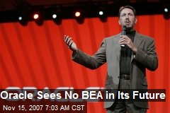 Oracle Sees No BEA in Its Future