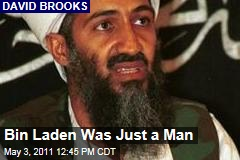 David Brooks: Osama Bin Laden Just a Man