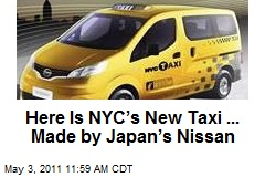 Here Is NYC's New Taxi ... Made by Japan's Nissan
