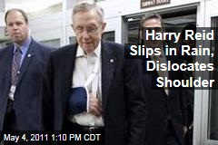 Harry Reid Falls, Dislocates Shoulder