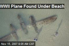 WWII Plane Found Under Beach