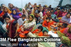 3M Flee Bangladesh Cyclone