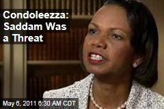 Condoleezza Rice on MSNBC: Saddam Hussein Was a Threat