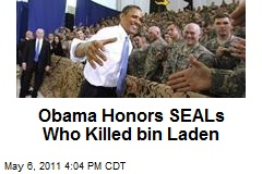 Obama Honors SEALs Who Killed bin Laden