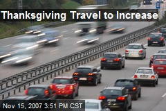 Thanksgiving Travel to Increase