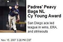 Padres' Peavy Bags NL Cy Young Award