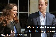 Prince William, Kate Middleton Leave for Honeymoon