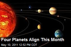 Four Planets Align This Month