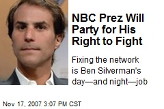 NBC Prez Will Party for His Right to Fight