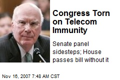 Congress Torn on Telecom Immunity
