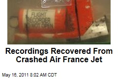 Recordings Recovered from Crashed Air France Flight 447