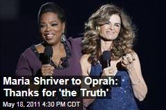 Maria Shriver Seems to Make a Subtle Jab at Arnold Schwarzenneger to Oprah