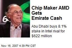 Chip Maker AMD Gets Emirate Cash