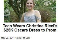 Teen Wears Christina Ricci's Oscars Dress to Michigan High School Prom