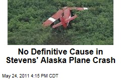 No Definitive Cause Found in Former US Sen. Ted Stevens' Alaska Plane Crash