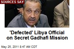 'Defected' Libya Official on Secret Gadhafi Mission