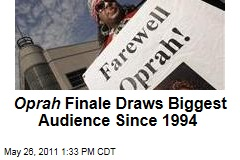 Oprah Finale Draws Biggest Audience Since 1994