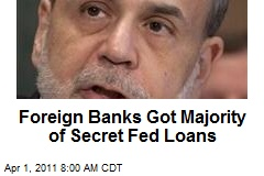 Foreign Banks Got Majority of Secret Fed Loans