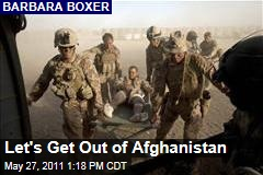 Barbara Boxer: It's Time to Set an End Date for Our Mission in Afghanistan