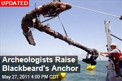 Archeologists Raise Blackbeard's Anchor