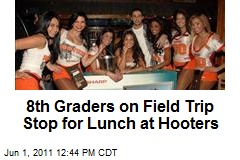8th Graders on Field Trip Stop for Lunch at Hooters