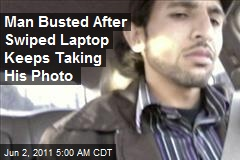 Man Busted After Swiped Laptop Takes His Photo