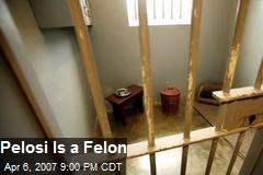 Pelosi Is a Felon