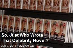 So, Just Who Wrote That Celebrity Novel?