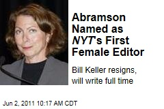 Jill Abramson Replacing Bill Keller as 'New York Times' Executive Editor