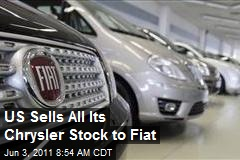 US Sells All Its Chrysler Stock to Fiat