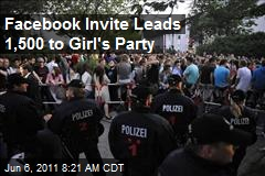 Facebook invite leads 1,500 to girl's birthday