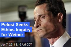 Nancy Pelosi: Antony Weiner Should Face House Ethics Investigation